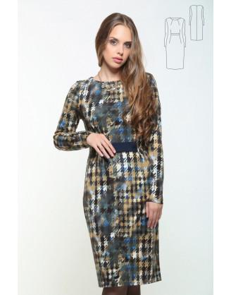 Платье Bravissimo 162533-серо-коричневый