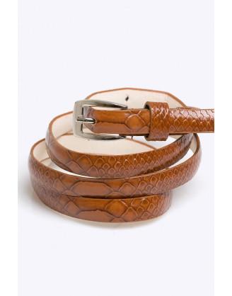Ремень Emka Fashion кофейный змейка